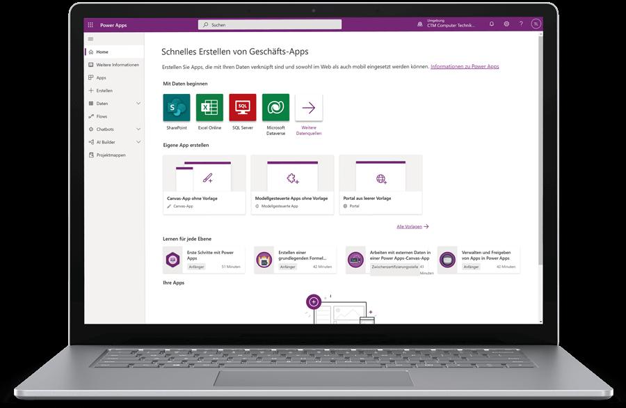 CTM Microsoft Power Apps Screen